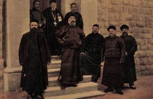 Missionarissen, met in het midden Jan Buis