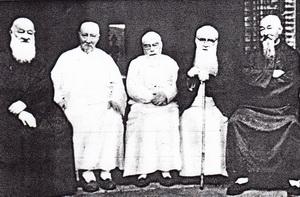 Jan Buis uiterst rechts, op dat moment 68 jaar oud