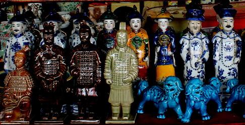(167) De Panjiayuan Markt in Beijing